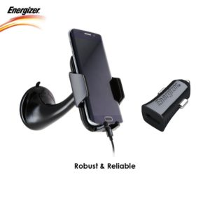 Amazon - Buy Energizer USB Universal Car Charger with USB Cable with Mobile Phone Holder  at Rs 699