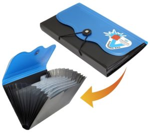 Amazon - Buy Expanding cheque book holder case for travelling document wallet with 13 pocket - BlueBlack  at Rs 199 only