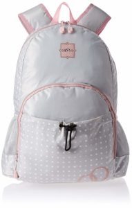 Amazon- Buy Hoom Polyester Grey and Pink Children's Backpack at Rs 293