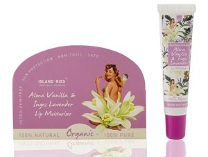 Amazon - Buy Island Kiss, 100% Natural, Organic Lip Balm, Moisturiser & Tint With Spf 15, Alma Vanilla & Inges Lavender, 14Gms at Rs 91 only