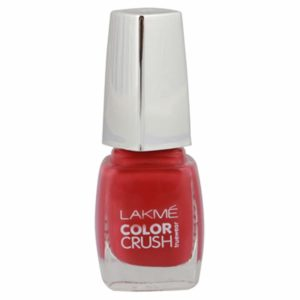 Amazon - Buy Lakme True Wear Color Crush Nail Color, Reds 22, 9 ml at Rs 98