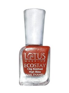 Amazon - Buy Lotus Herbals Ecostay Nail Enamel, Coral Flush E2, 10ml  at Rs 111 only