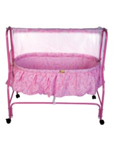 Amazon - Buy Mee Mee Baby Cradle With Swing and Mosquito Net (Pink) at Rs. 2254
