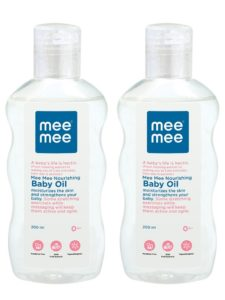 Amazon - Buy Mee Mee Nourishing Baby Oil with Fruit Extracts, 200ml (Pack of 2) at Rs. 366