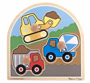 Amazon- Buy Melissa & Doug Construction Site Jumbo Knob Puzzle at Rs 199