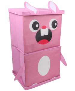 Amazon - Buy Miamour Rabbit Fabric Storage Organizer, 2 Tier, Pink at Rs 239