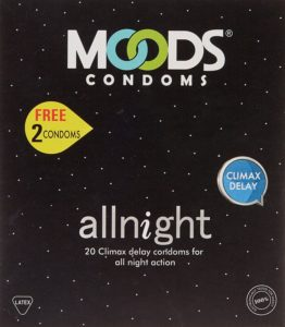 Amazon - Buy Moods All Night Condom - 20 Count with Free Condom - 4 Count at Rs 76