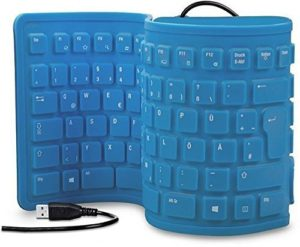 Amazon - Buy Obbi- 103 Keys Silicone Rubber Waterproof Flexible & Foldable Wired USB Keyboard For Laptop, PC at Rs 426