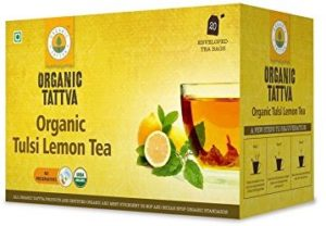 Amazon - Buy Organic Tattva Tulsi Lemon Tea, 20 Tea Bags