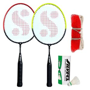 Amazon - Buy Silver's KIDS SIL-PEDAL COMBO-6 Aluminum Badminton Set at Rs 299 only