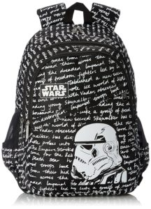 Amazon - Buy Star Wars Nylon Black and White School Bag at Rs 528
