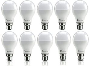 Amazon - Buy Syska SRL Base B22 9-Watt LED Bulb (Pack of 10, Cool White)  at Rs 694 only
