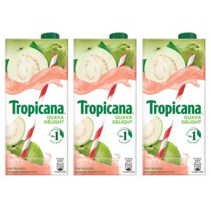 Amazon - Buy Tropicana Guava Delight Fruit Juice 1L (Pack of 3) at Rs 222 only