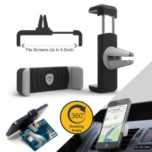 Amazon - Buy Tukzer Air Vent Universal Car Mount Mobile Holder (Black and Grey) at Rs 249 only