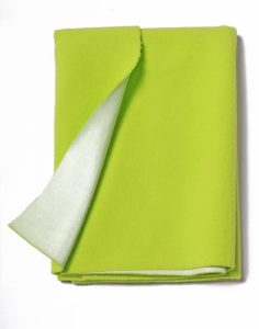 Amazon - Buy babeezworld Baby Wrapping Waterproof Fleece Bed Protector Sheet (Green, Small)  at Rs 110 only