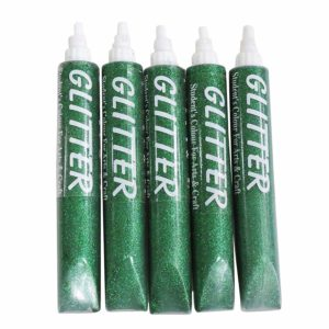 Amazon - buy Asian Hobby Crafts Glitter Sparkle Glue Tubes, Green (25ml, Pack of 5) at Rs 78 only