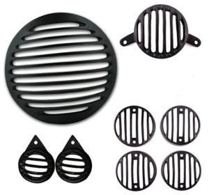 Autofy Metal Grill for Royal Enfield Bullet Classic 350 & 500 (Black, Set of 8) at rs.310