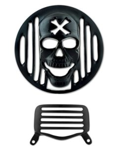 Autofy Skull Metal HeadLight & Tail Light Grill for Royal Enfield Bullet at rs.130