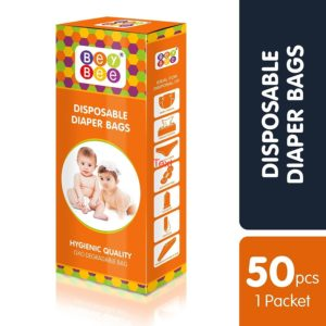 Bey Bee Baby Disposable Diaper Sacks, 50 Bags