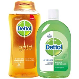 Dettol Bodywash Classic Clean - 250 ml with Dettol Regular Multi Hygiene Liquid - 500 ml