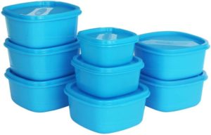 Flipkart - Buy Princeware - 4450 ml Plastic Grocery Container (Pack of 8, Blue) at Rs 199 only