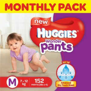 Huggies Wonder Pants Medium Size Diapers Monthly Pack