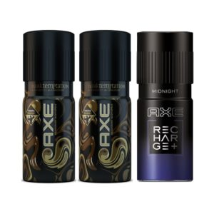 (LOOT) Paytm Mall - Buy AXE Dark Temptation Deodorant 2 x 150 ml, Midnight Bodyspray 150 ml (Pack of 3) at Rs. 149