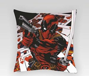 "Marvel Deadpool Gun Square Stretch Polyester Cushion Cover - 16""x16"" at rs.66"