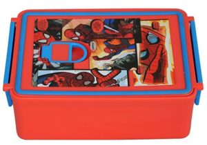 Marvel Spiderman Plastic Lunch Box Set at rs.119