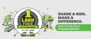 Ola Cabs World Environment Day Offer