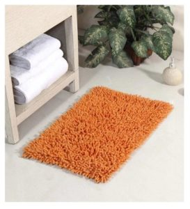 Orange Cotton 24 x 16 Inch Chevy Bath Mat