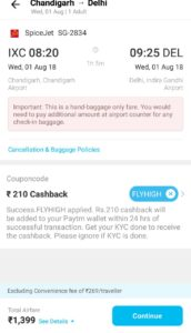 Paytm FLYHIGH Offer - Get 15% Cashback upto Rs 1000 on Flight Bookings