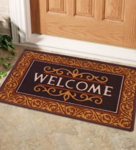 Pepperfry - Buy Brown Nylon 23 x 15 inch Door mat by Status at Rs 59 only