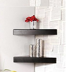 Pepperfry - Buy Corner Wall Shelf in Black Finish by Home Sparkle at Rs 169 only