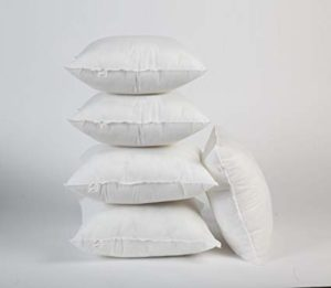 Pepperfry - Buy White Polyester 16 x 16 Inch Non Woven Cushion Inserts - Set of 5 by Zikrak Exim at Rs 289