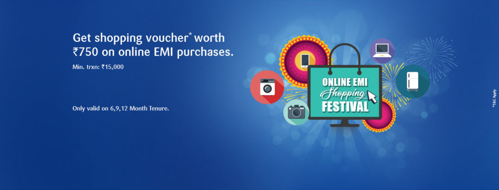 SBI Offer - Get Shopping Voucher worth Rs 750 on Online EMI Purchases