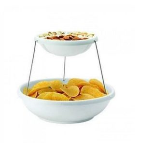 Shunkk Twistfold Collapsible Party Bowl, 2 Tier at rs.428