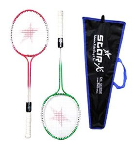 StarX Multi-shaft Steel Badminton Racquet Set at rs.182