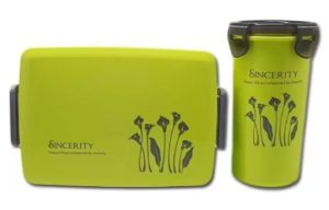 Tuelip Style Happy Life Lunch Box Set With Water Bottle For Kids at rs.199