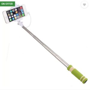Voltaa SELFY Cable Selfie Stick (Green) at rs.99
