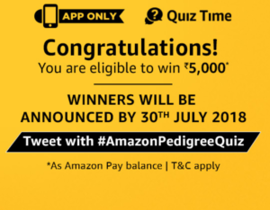 amazon pedigree quiz answer all congratulations