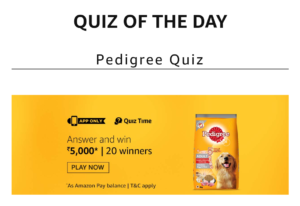 start amazon pedigree quiz and win pay balance all answers added