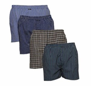 Amazon - buy SUPER DEAL BAZZAR STORE Checkered Men's Boxer - (Size:- Free, Pack of 4) at Rs 219 only