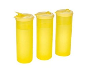All Time Plastics Freeze Bottle Set, 1 Litre, Set of 3, Yellow at rs.120