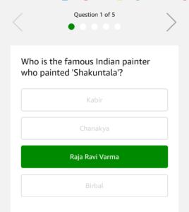 Amazon Art Quiz Answer