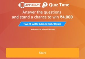 Amazon Art Quiz Answers - Answer and Win Rs 4000
