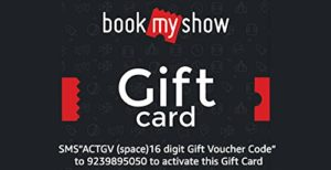 Amazon- Buy Bookmyshow Gift Card at flat 15% off