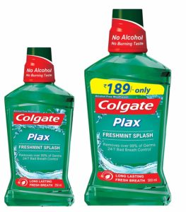 Amazon - Buy Colgate Plax Mouthwash - 250 ml (Fresh Mint) with Plax Mouthwash - 500 ml (Fresh Mint) at Rs. 202