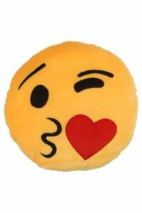 Amazon - Buy Deals India Face Throwing a Kiss Smiley Cushion, Yellow  at Rs 110