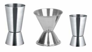 Amazon - Buy Dynore Stainless Steel Peg Measure Set, Set of 3, Silver  at Rs 158 only
